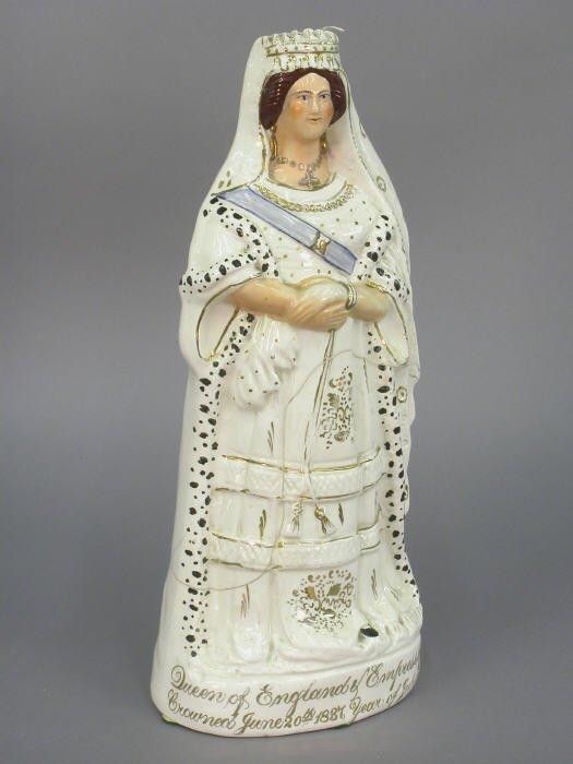 513: Staffordshire figural portrait of Queen