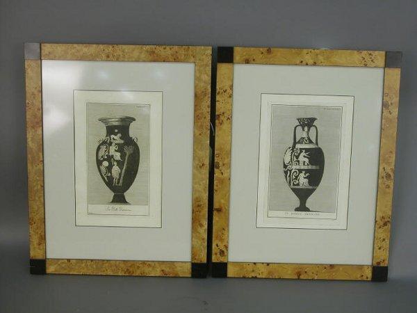 516: Pair of engravings in the manner of John