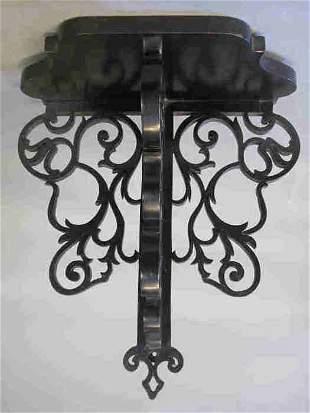 English ebonized wood wall bracket. Some