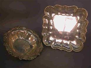 Two Sterling presentation pieces, (1) Tr