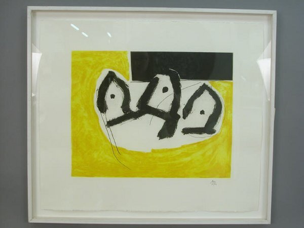 708: Robert Motherwell signed etching and aqu