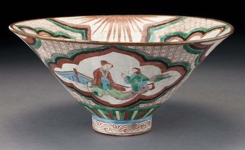 5: Chinese Qing hat shaped porcelain bowl