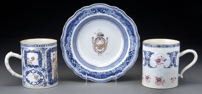 19: 3 Pcs. Chinese Qing export porcelain, including: