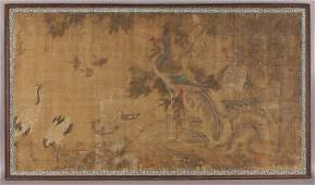 279 Chinese late Mingearly Qing watercolor on silk