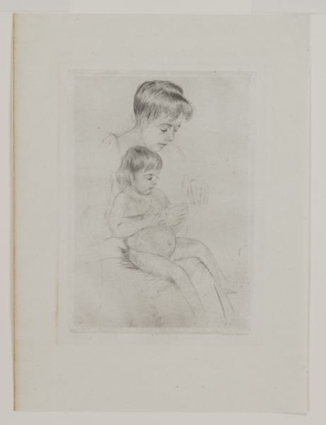 "3: Mary Cassatt, ""The Manicure"" drypoint on laid - 2"