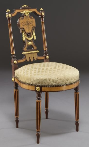 5: Louis XVI style ormolu mounted ladies' side chair