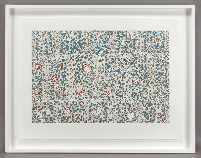 "8: Richmond Burton, ""Barok"" color etching."