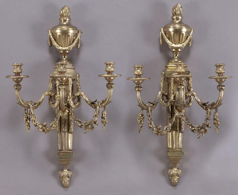 16: Pr. Regence style gilt bronze sconces,