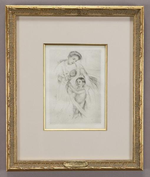 "18: Mary Cassatt, ""Looking into the Hand Mirror"