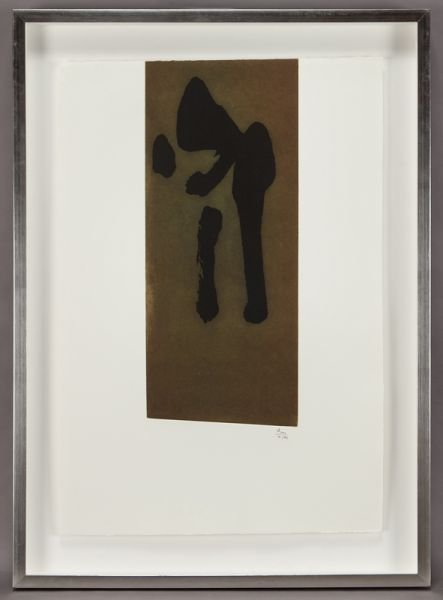 "23: Robert Motherwell, ""Primal Sign II"" color etching"
