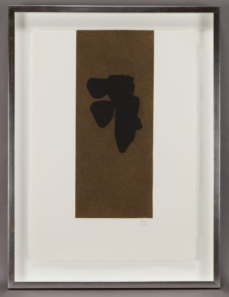 """24: Robert Motherwell, """"Primal Sign III"""" color"""