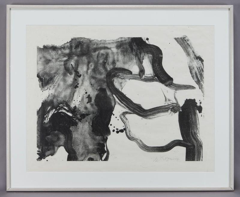 "52: Willem de Kooning, ""Landing Place"" lithograph on"