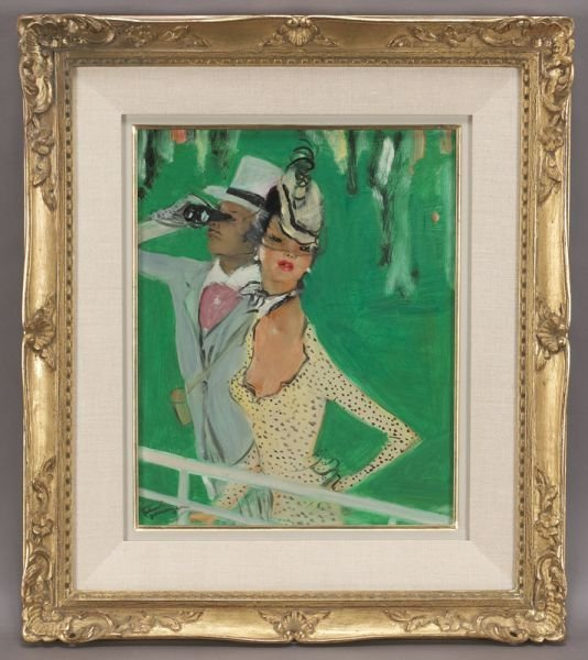 55: Jean-Gabriel Domergue, oil painting on board