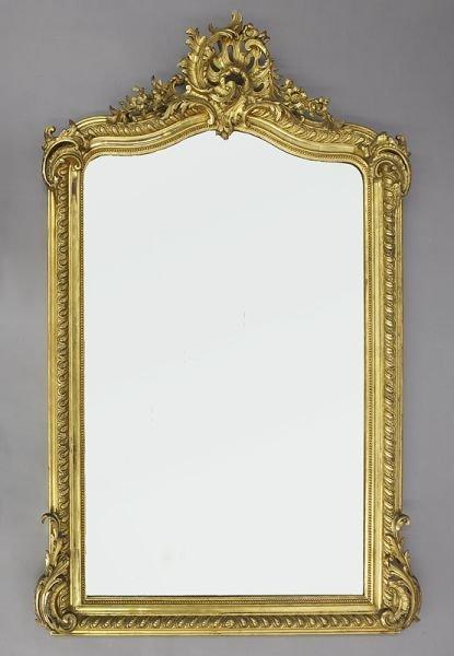 60: Louis XV style gilt rococo mirror