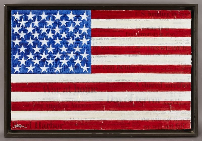 "62: Christopher H. Martin, ""9-11 Flag - War at Home"""