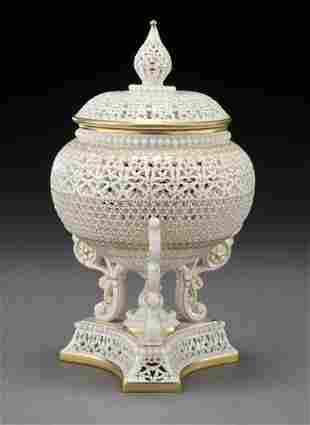63: Royal Worcester potpourri and cover by George Owen