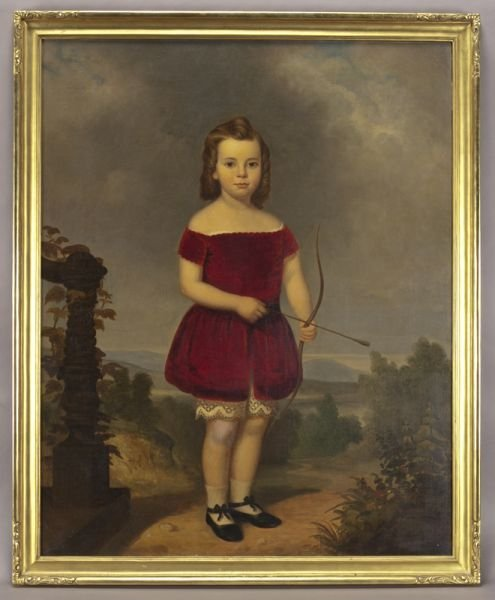 69: American School oil painting on canvas depicting