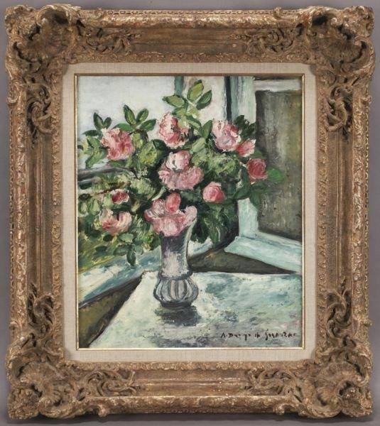 """71: Andre Dunoyer de Segonzac, """"Fleurs dans un Vase"""""""