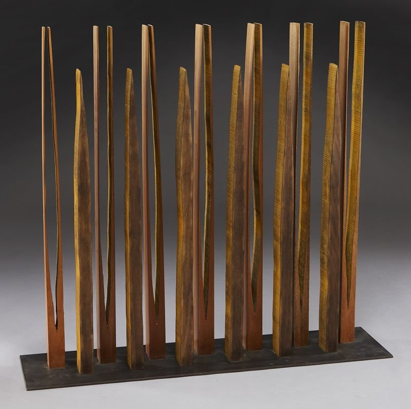 132: Pascal, abstract wood sculpture.