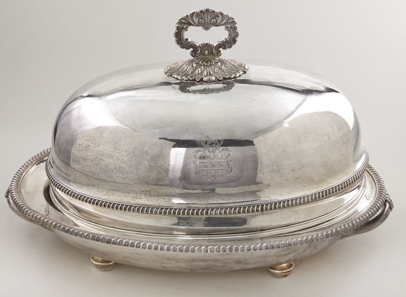153: Matthew Boulton Old Sheffield plate meat dome