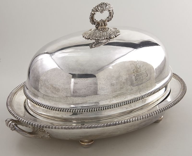 153: Matthew Boulton Old Sheffield plate meat dome - 2