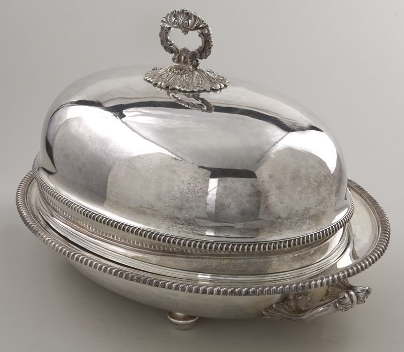 153: Matthew Boulton Old Sheffield plate meat dome - 3