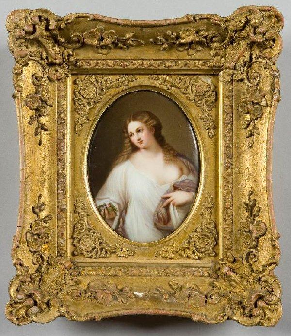 45: Pr. KPM porcelain oval portrait plaques with