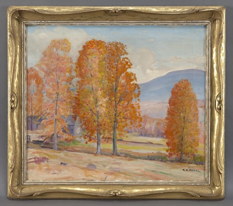 "23: Karl Albert Buehr, ""Landscape"" oil painting on"
