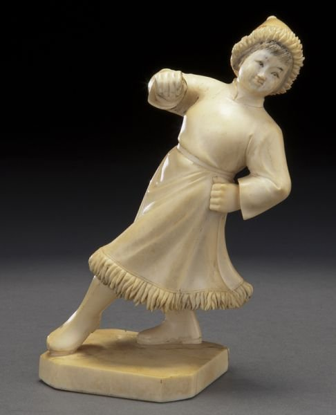2: Chinese Cultural Revolution carved ivory figure