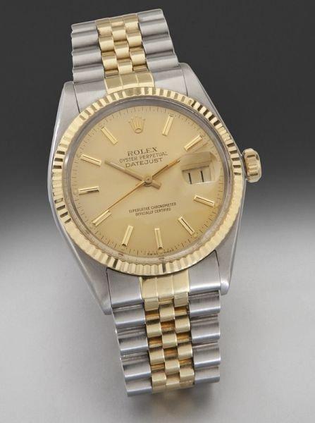 12: Men's Rolex oyster perpetual datejust wristwatch