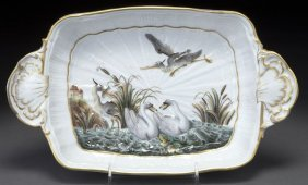 "5: Meissen porcelain ""Swan Service"" two-handled tray"