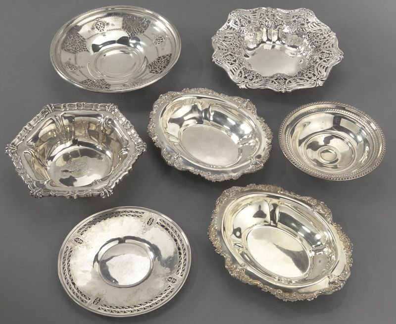 7: (7) American sterling silver dishes, incl.: