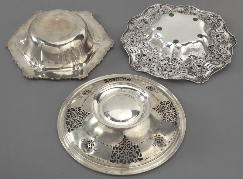 7: (7) American sterling silver dishes, incl.: - 3