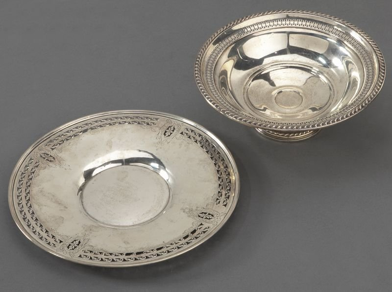 7: (7) American sterling silver dishes, incl.: - 8