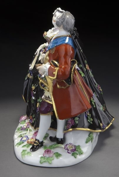 20: Meissen porcelain figural group of a royal couple, - 3