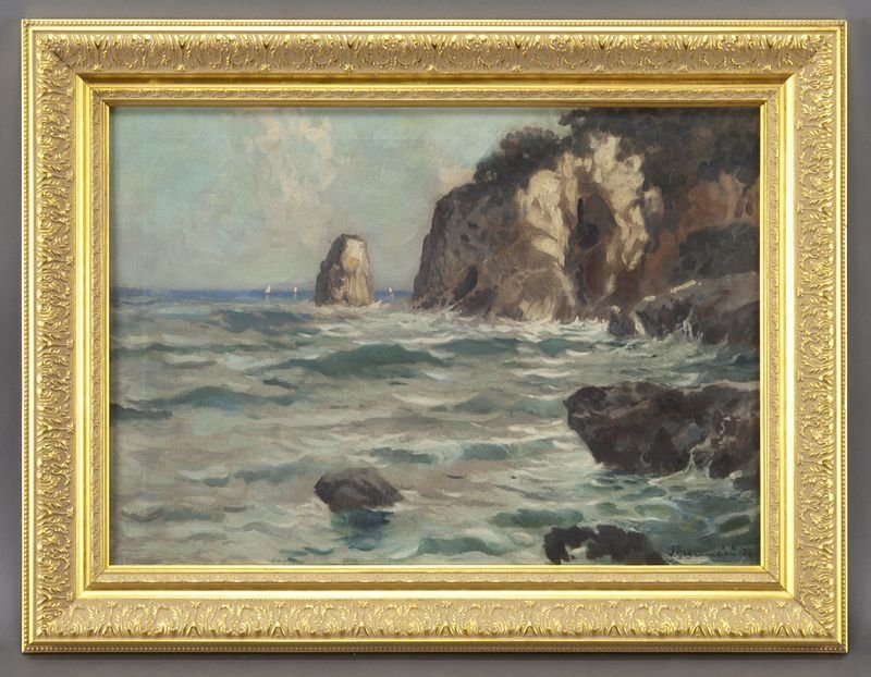 "24: Julien Gustave Gagliardini, ""View of a Rocky"