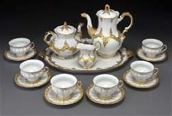 69: 16 Pc. Meissen porcelain coffee and tea service,