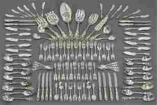 """161: 110 Pcs. Reed and Barton """"Love Disarmed"""" sterling"""