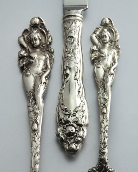 """161: 110 Pcs. Reed and Barton """"Love Disarmed"""" sterling - 2"""