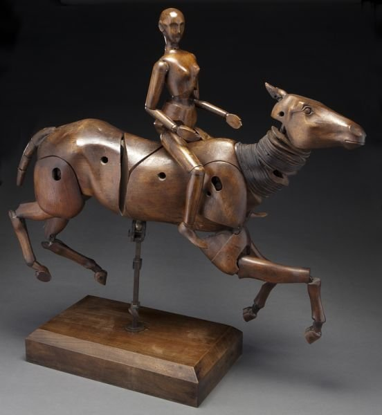 166: Rare and Excellent Maquette Francaise carved