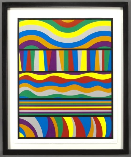 "3: Sol Lewitt, ""Untitled"" (Waves and Lines)"