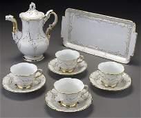 11: 10 Pc. Meissen gilt porcelain coffee service