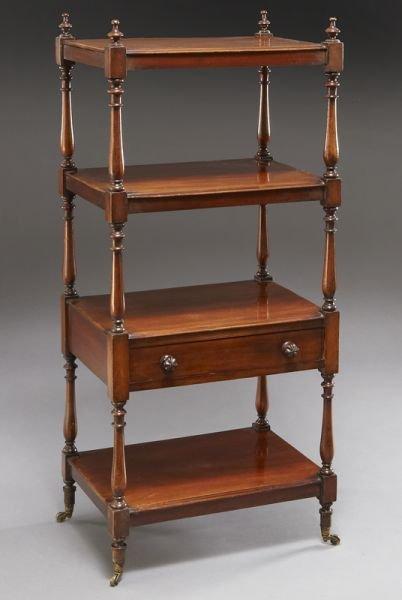 18: English mahogany 4-tier etagere