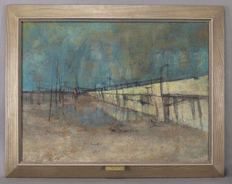 "20: John Guerin, ""Gulf Coast Pier"" oil on canvas."