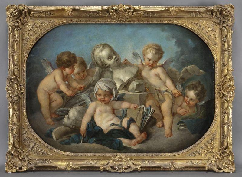 "148: Studio of Francois Boucher, ""An Allegory of"
