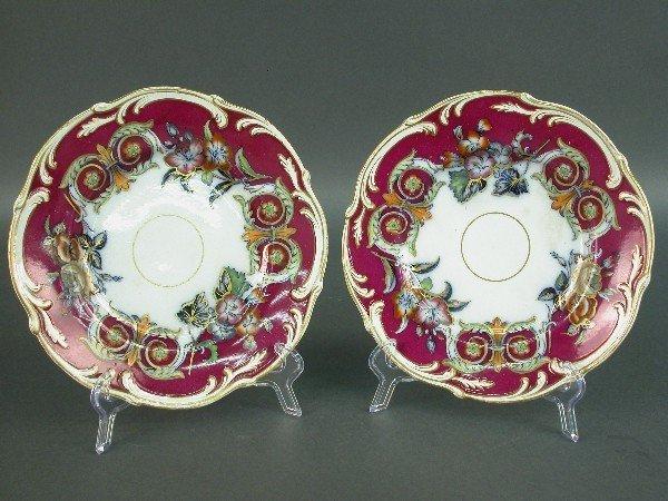 2001: Pair of English Victorian dessert plate