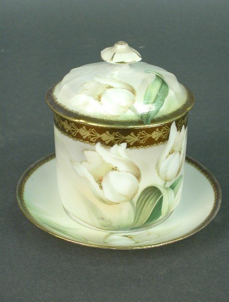 2002: R. S. Prussia mustard pot with lid and