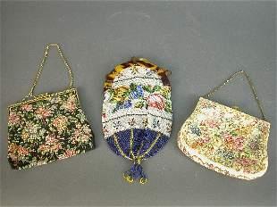 (3) Vintage ladies purses including one