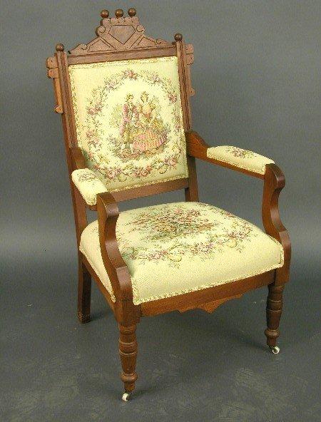 2008: American, Victorian parlor chair, walnu