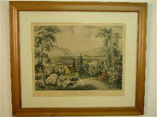 """Currier and Ives print, """"The Hudson Hig"""